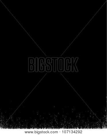 Black Brush Stroke Element On White Background