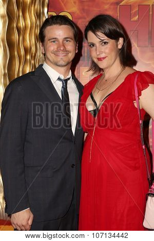 LOS ANGELES - SEP 20:  Jason Ritter, Melanie Lynskey at the HBO Primetime Emmy Awards After-Party at the Pacific Design Center on September 20, 2015 in West Hollywood, CA