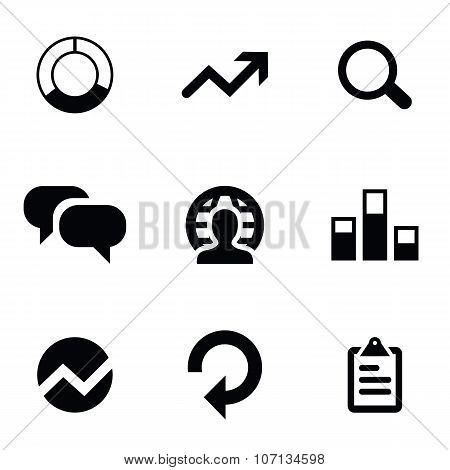 analytics 9 icons set