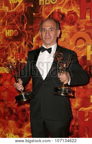 LOS ANGELES - SEP 20:  Armando Iannucci at the HBO Primetime Emmy Awards After-Party at the Pacific Design Center on September 20, 2015 in West Hollywood, CA