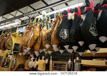 Lisbon, Portugal- January 10Th, 2015: Mercado Da Ribeira Food Market On The 10Th Of January 2015 In