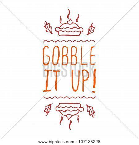 Gobble it up - typographic element