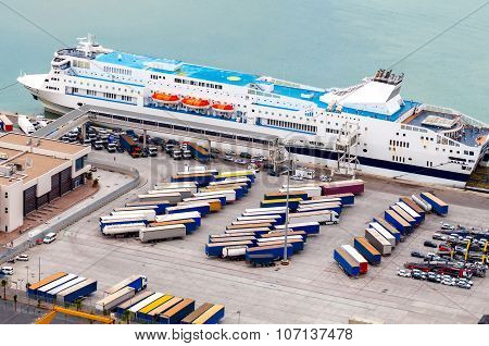Barcelona. Cargo port.