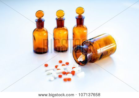 Food supplements pills or capsules drugs
