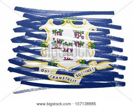 Flag Illustration - Connecticut