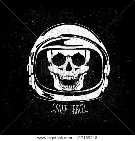 dead astronaut helmet