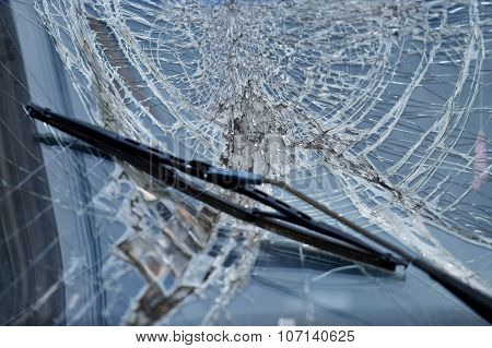 Car Crash Broken Windshield