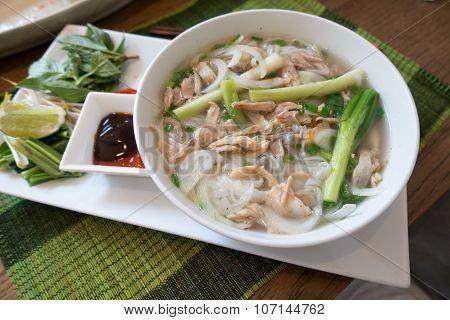 Traditional Vietnamese Beef Soup Pho (pho Bo).