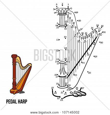 Numbers Game: Music Instruments (pedal Harp)