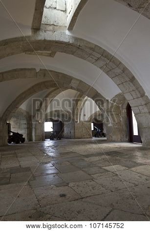 Interior Casemate Of The Main Bastion Of Belem Tower