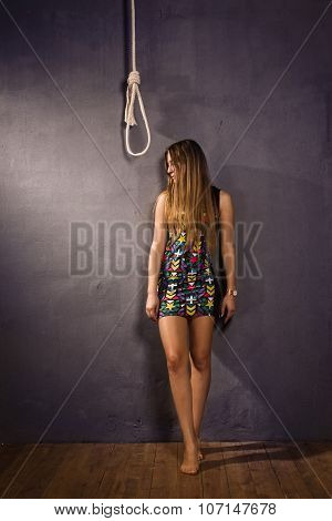 Young Woman Going To Be Hanged