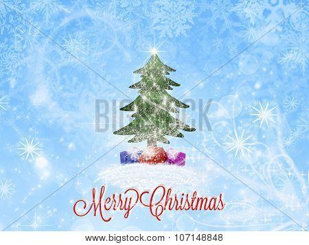 Merry Christmas greeting card. Christmas background.