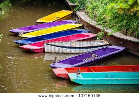 Wooden Boats. Oxford, Uk