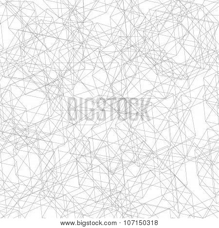 Seamless Pattern From Fine Lines Decagon