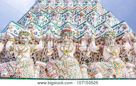 Hanuman pagoda base pattern.