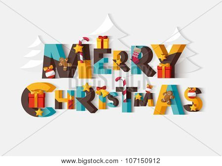 Merry Christmas typographic poster