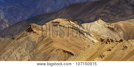 Panorama Of Himalayan Mountains , Ladakh Landscape Leh, Jammu Kashmir, India.