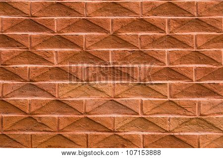 Modern Wall With Prominent Bricks
