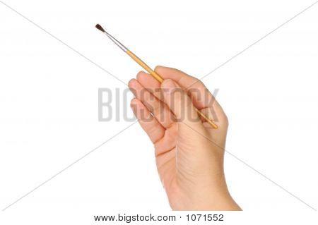 Hand And Brush