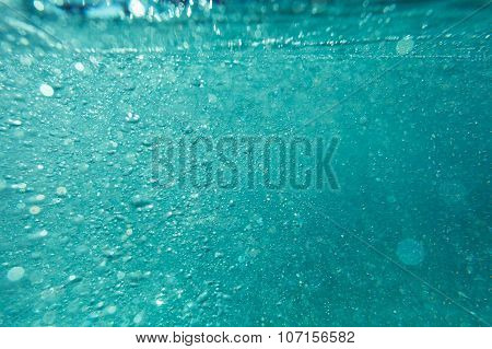 Abstract Underwater Background With Bokeh