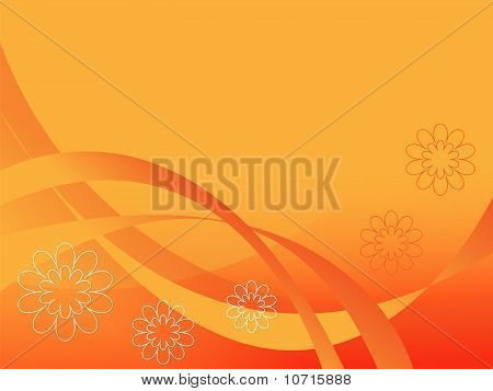 The Orange Abstract Background.