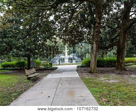 Small Path To Forsyth Fountain