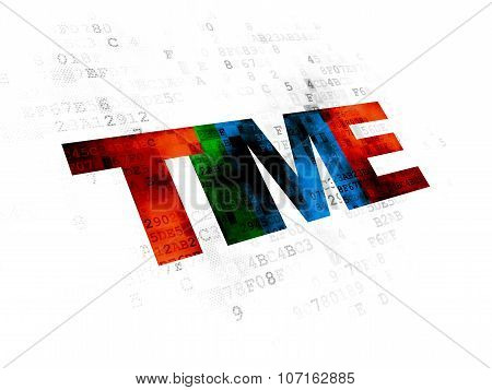 Time concept: Time on Digital background