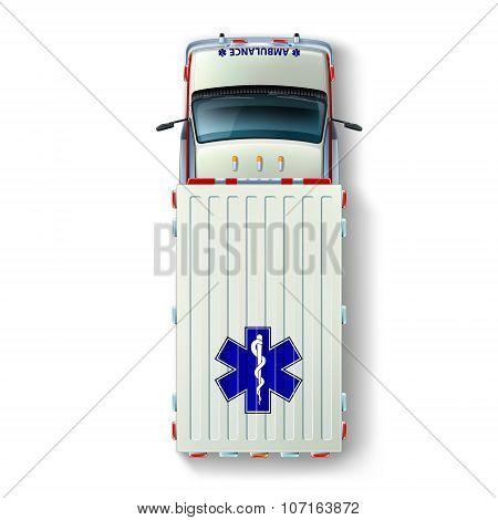 Ambulance Car Top View
