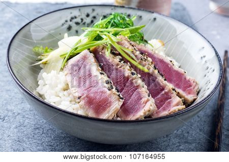Tuna Tataki with Rice