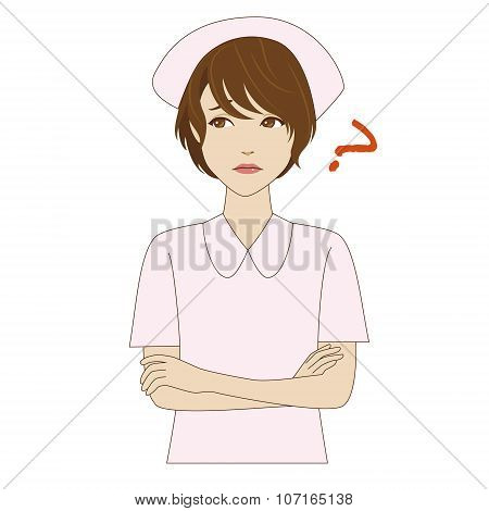 Thinking Young Nurse