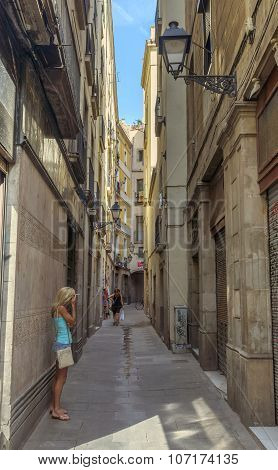 Old Street In The Gothic Quarter