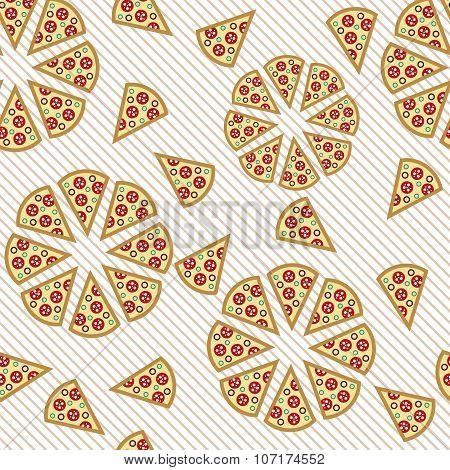 Seamless Pattern Pizza