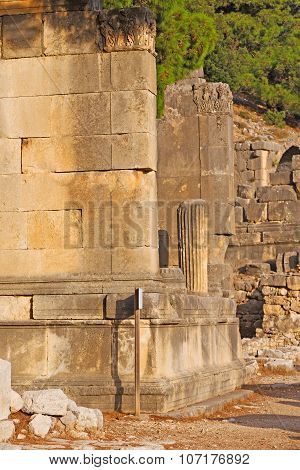 Ruins Arykanda Turkey Asia Sky    Temple