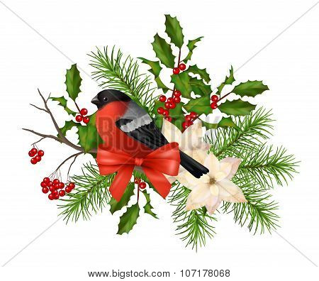 Christmas Vector Decorative Composition
