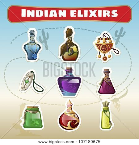 The Indian set of elixirs