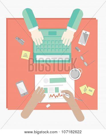 Desktop For 2 Workers
