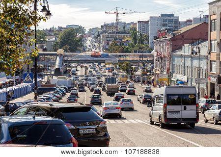 Dzerzhinsky Street. Kursk. Russia