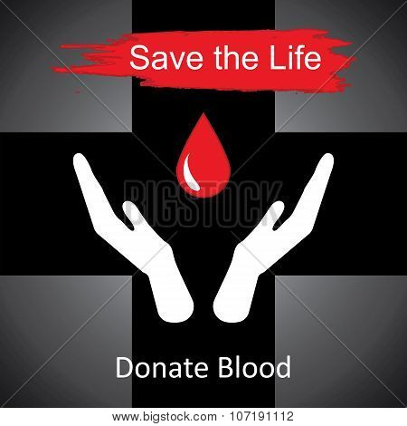 World blood donor day-June 14th. vector