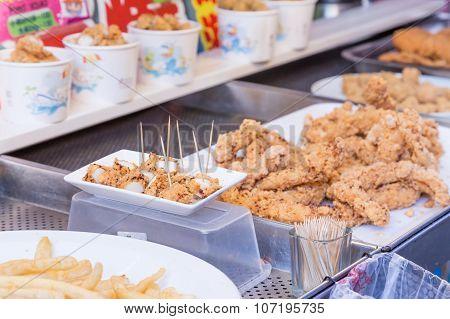 Street Food At Danshui Shopping Area