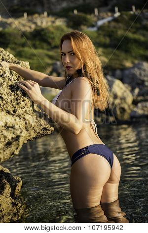 Greece bikini model