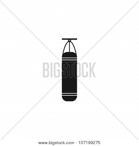 The Punching Bag Icon. Boxing Symbol.