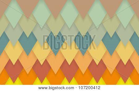 Triangle Chevrons Art Deco Pattern Background