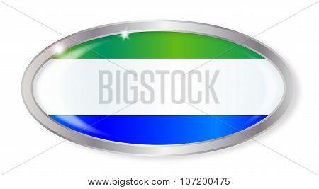 Sierra Leone Flag Oval Button