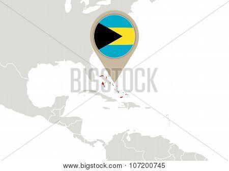 The Bahamas On World Map