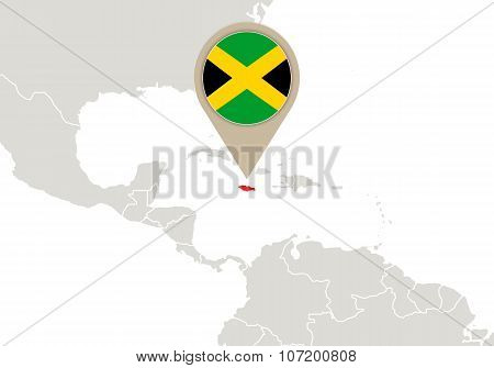 Jamaica On World Map