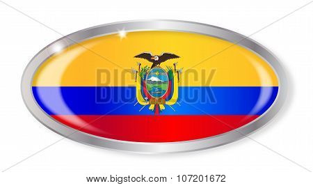 Ecuador Flag Oval Button