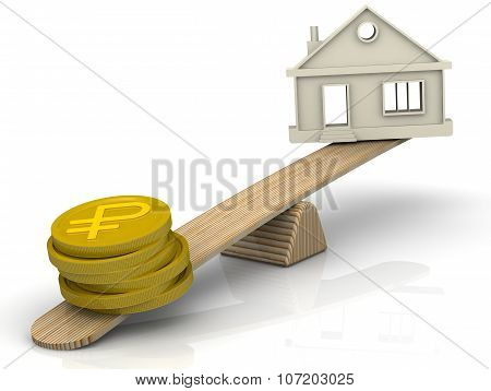 Money to buy a house. Concept
