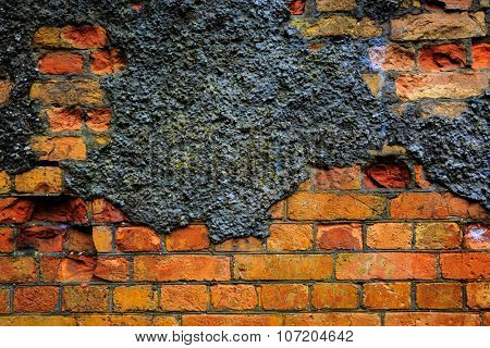old red brickwork - abstract background