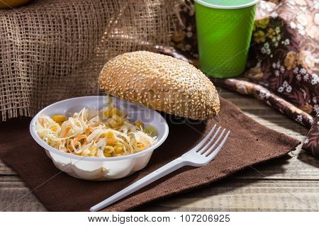 Still Life On Wooden Background