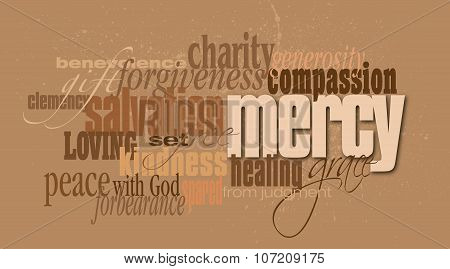 Mercy Christian word montage